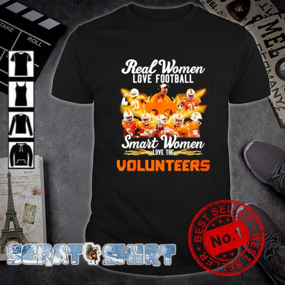 Real women love football smart women love the Volunteers shirt