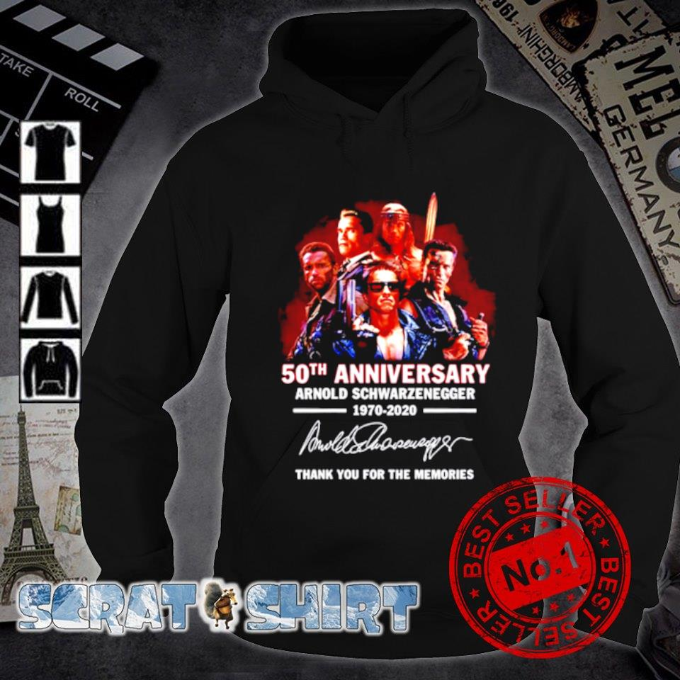 50th Anniversary Arnold Schwarzenegger thank you for the memories signature s hoodie