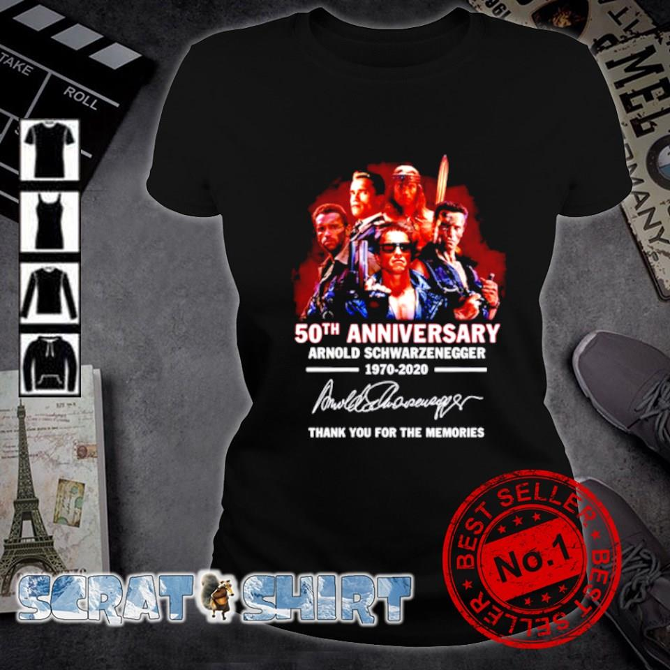 50th Anniversary Arnold Schwarzenegger thank you for the memories signature s ladies-tee