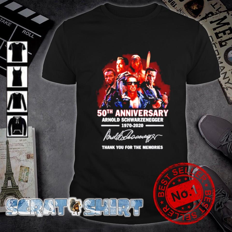 50th Anniversary Arnold Schwarzenegger thank you for the memories signature shirt