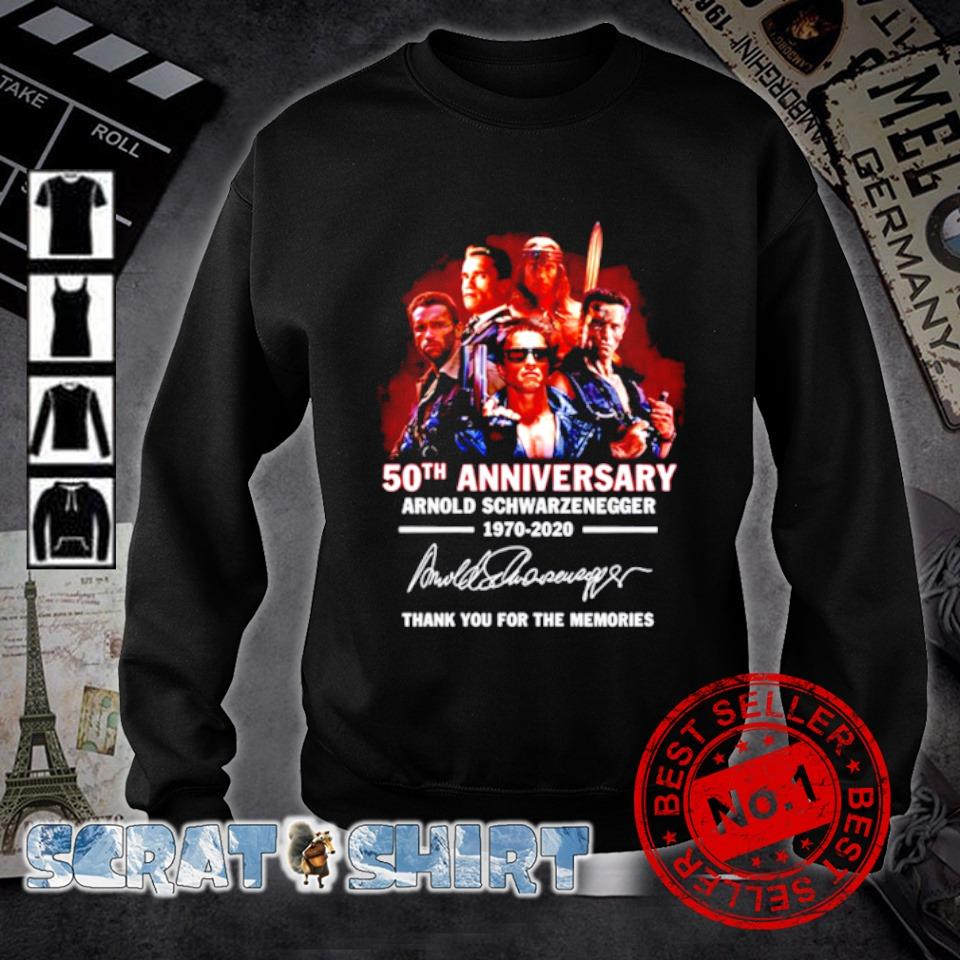 50th Anniversary Arnold Schwarzenegger thank you for the memories signature s sweater
