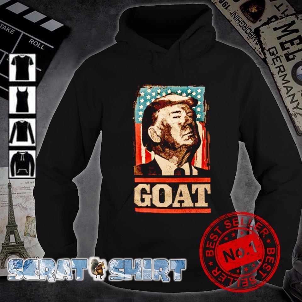 American flag Trump goat s hoodie