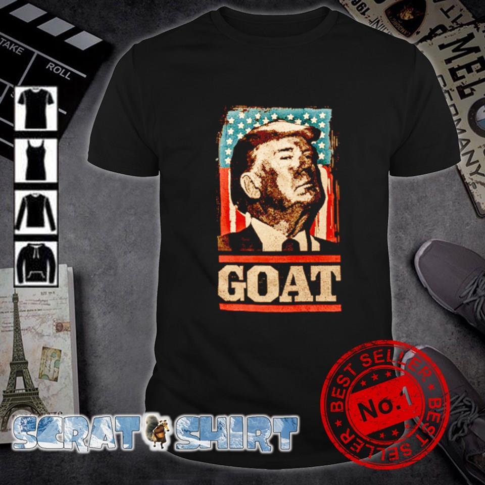 American flag Trump goat shirt