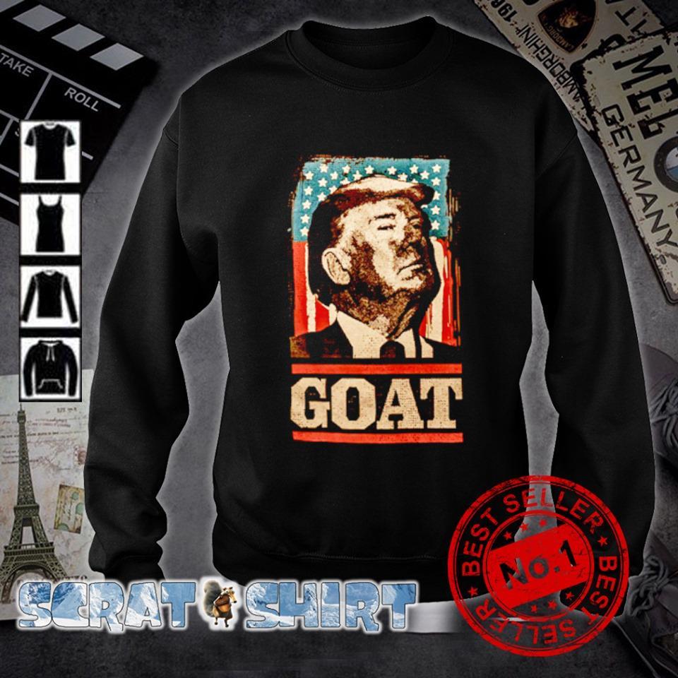 American flag Trump goat s sweater