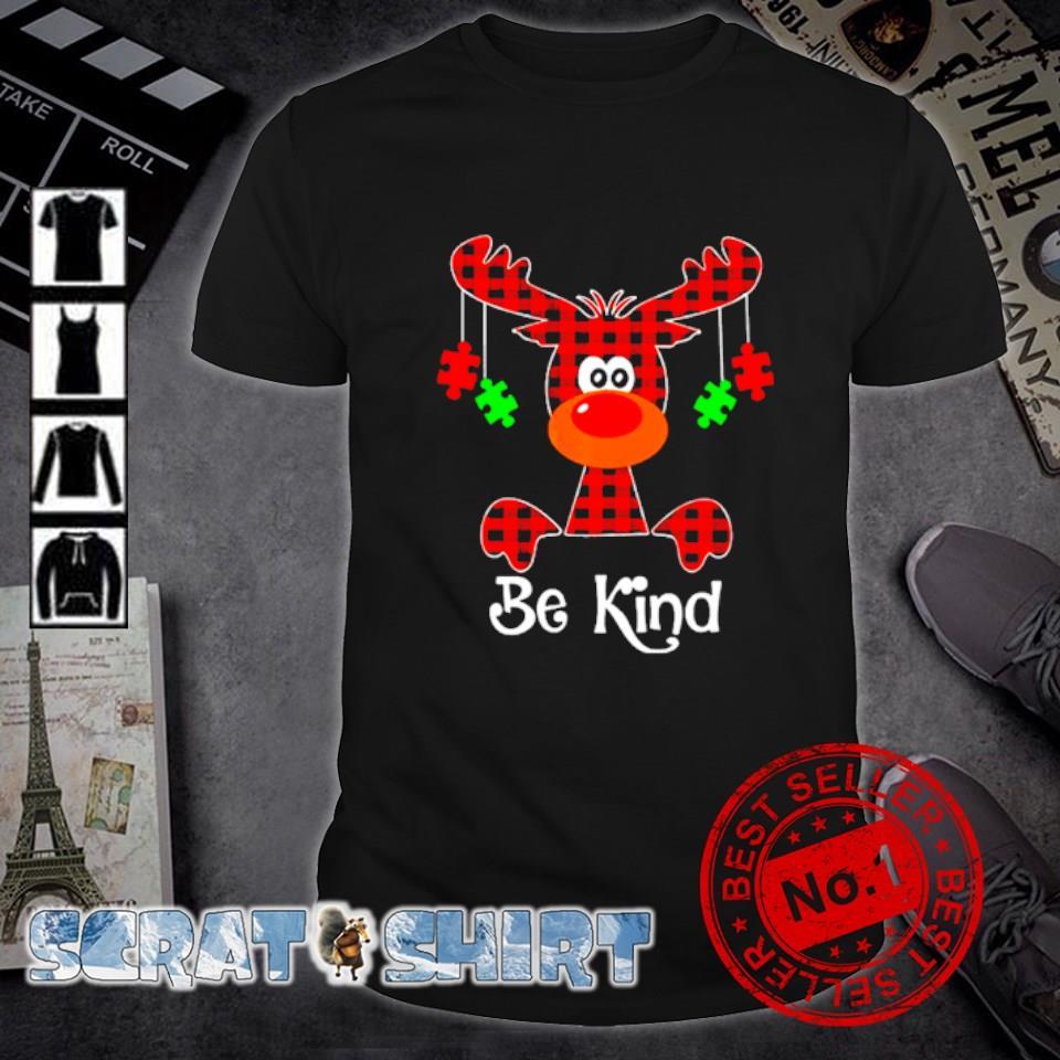 Autism Reindeer be kind Christmas shirt