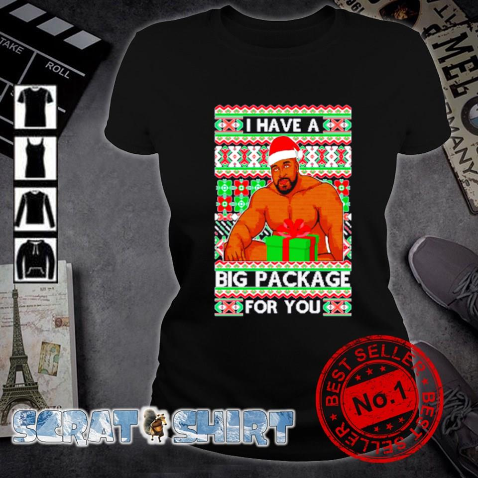 Barry Wood I have a big package for you ugly Christmas s ladies-tee