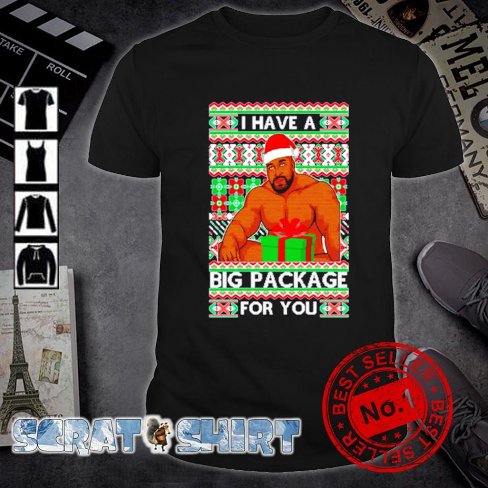 Barry Wood I have a big package for you ugly Christmas shirt