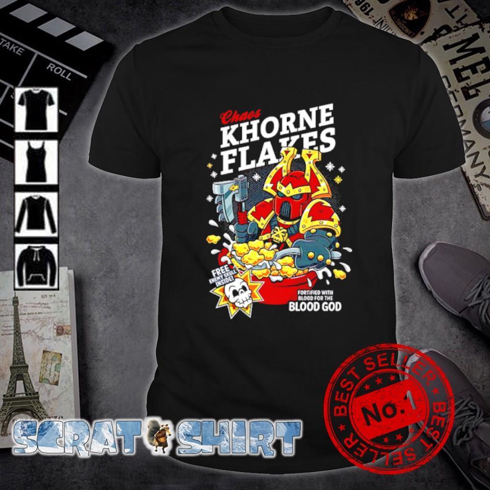 Chaos Khorne Flakes free enmy skull inside Christmas shirt