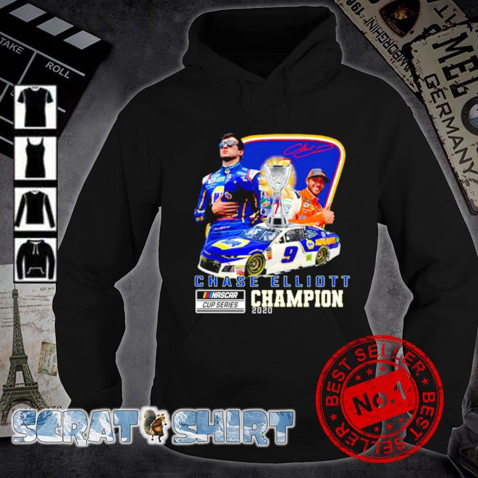 Chase Elliott Nascar cup series champion 2020 signature s hoodie