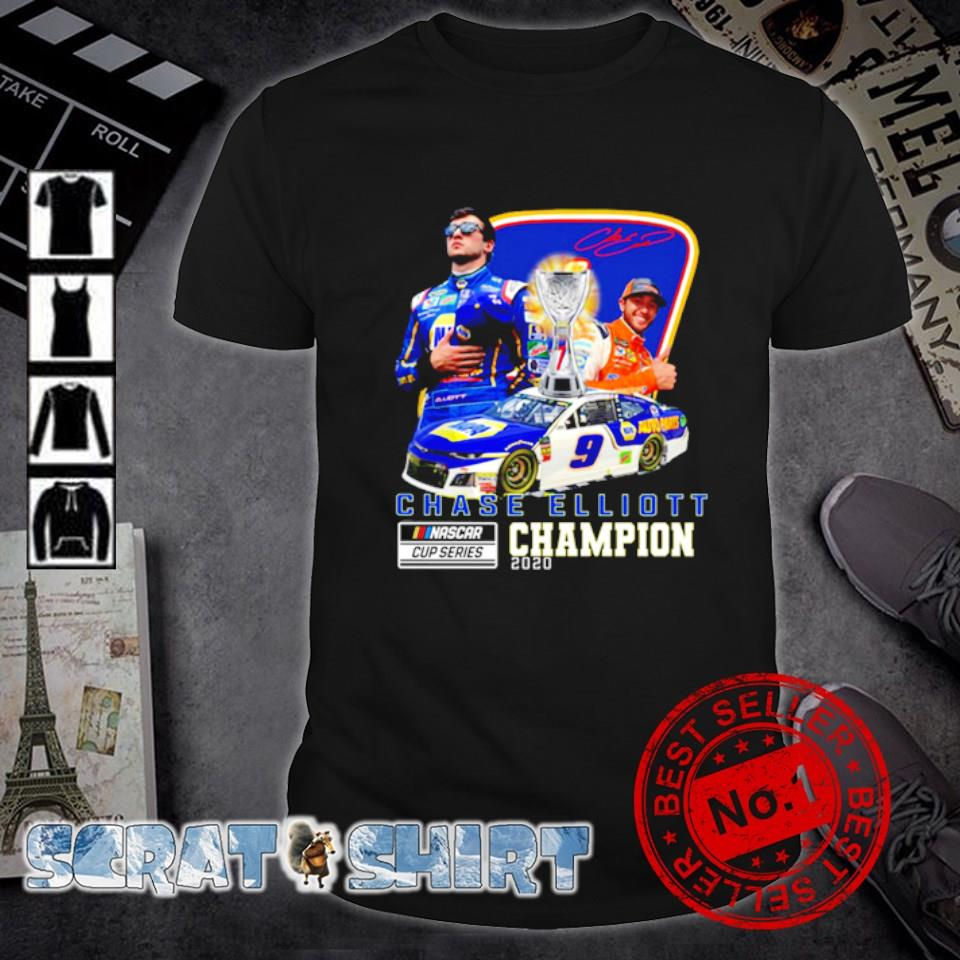 Chase Elliott Nascar cup series champion 2020 signature shirt