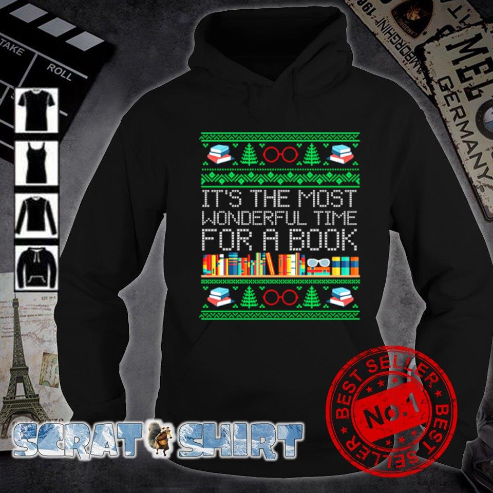 Christmas it's the most wonderful time for a book s hoodie