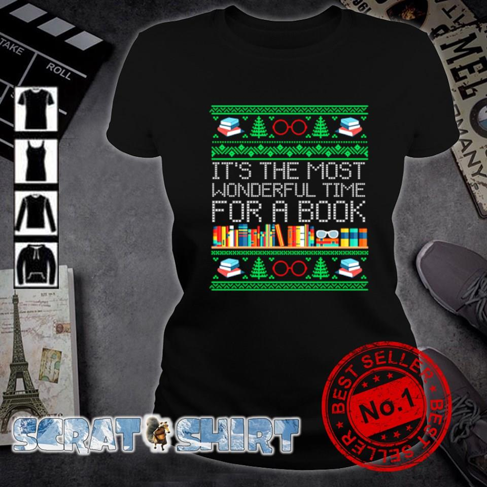 Christmas it's the most wonderful time for a book s ladies-tee