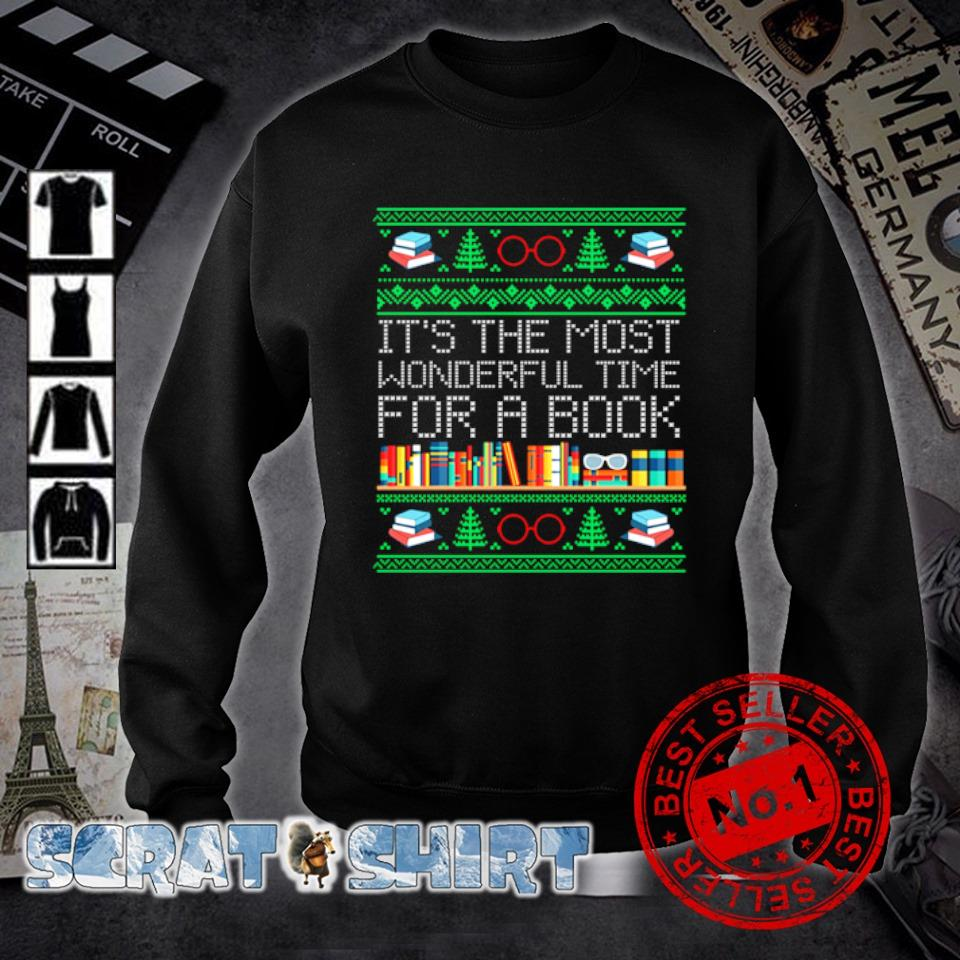 Christmas it's the most wonderful time for a book s sweater