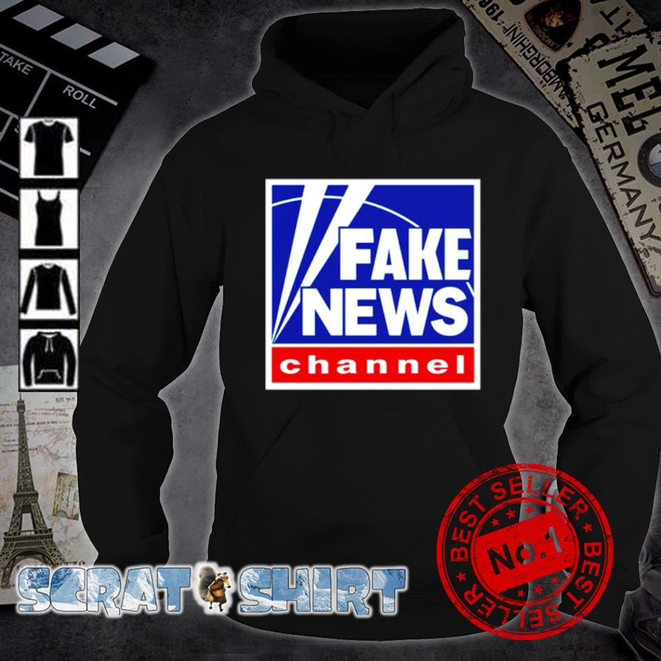 Fake news channel s hoodie