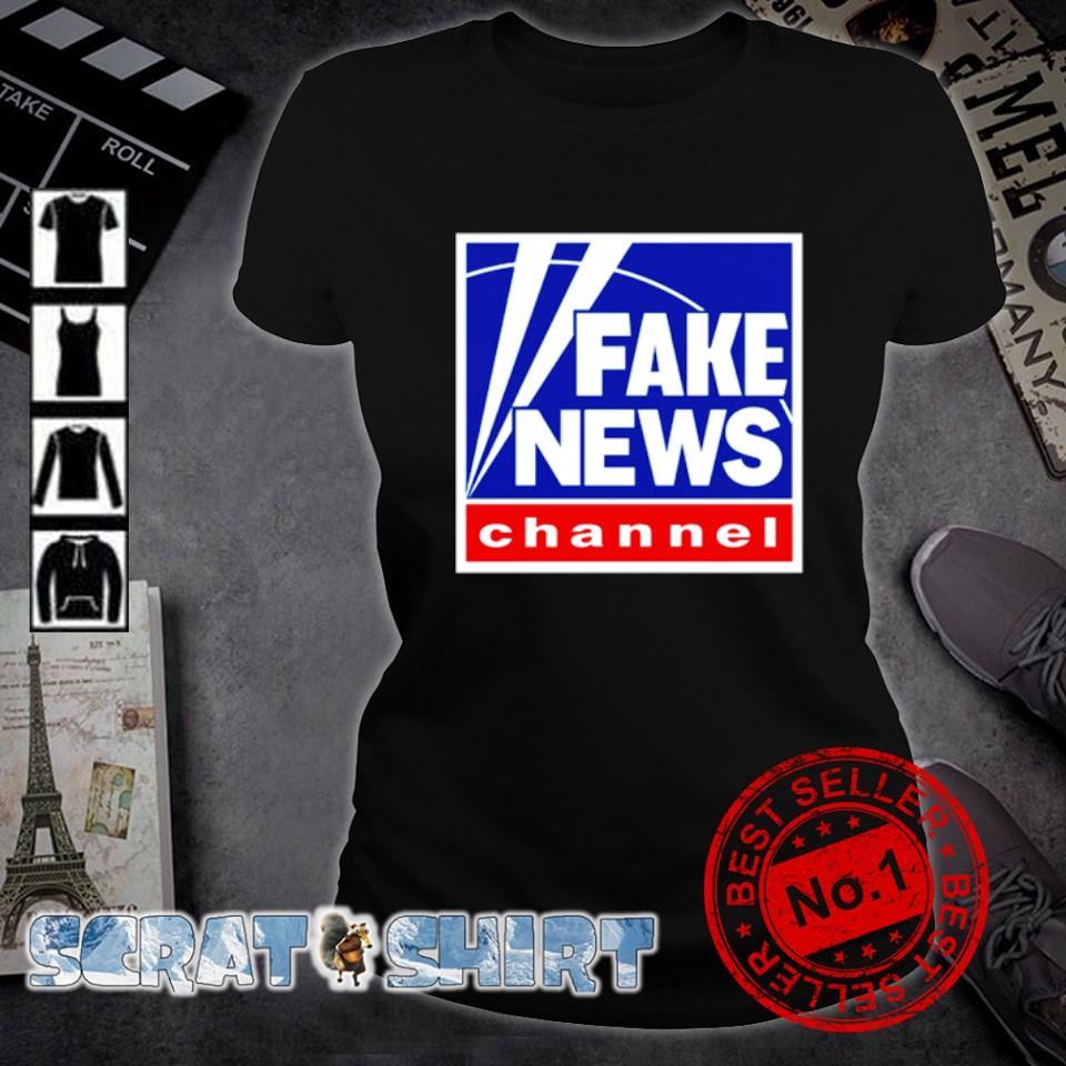 Fake news channel s ladies-tee