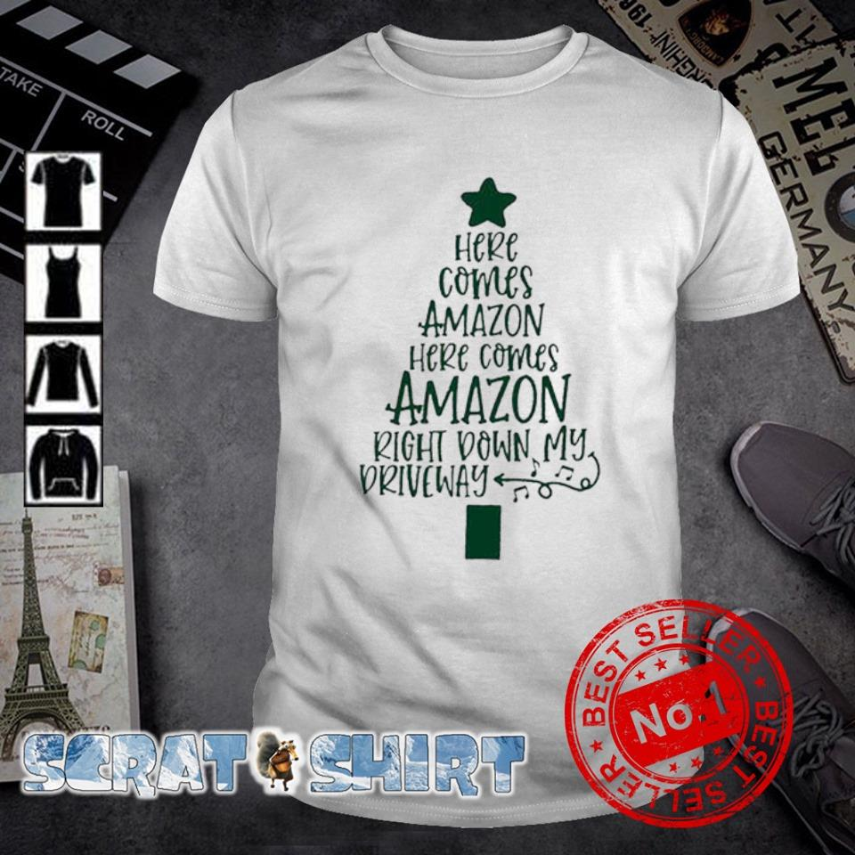 Here comes amazon here comes amazon Christmas tree shirt