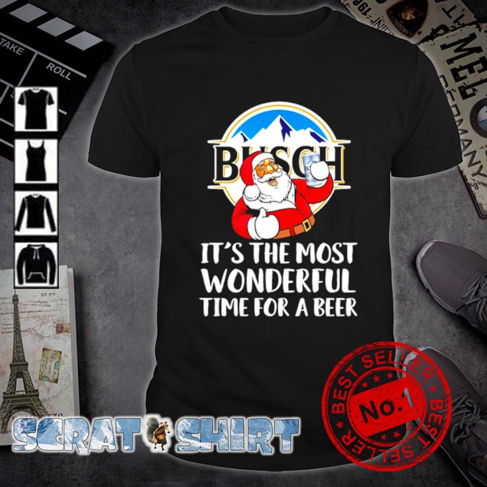 Santa Busch Light it's the most wonderful time for a beer shirt