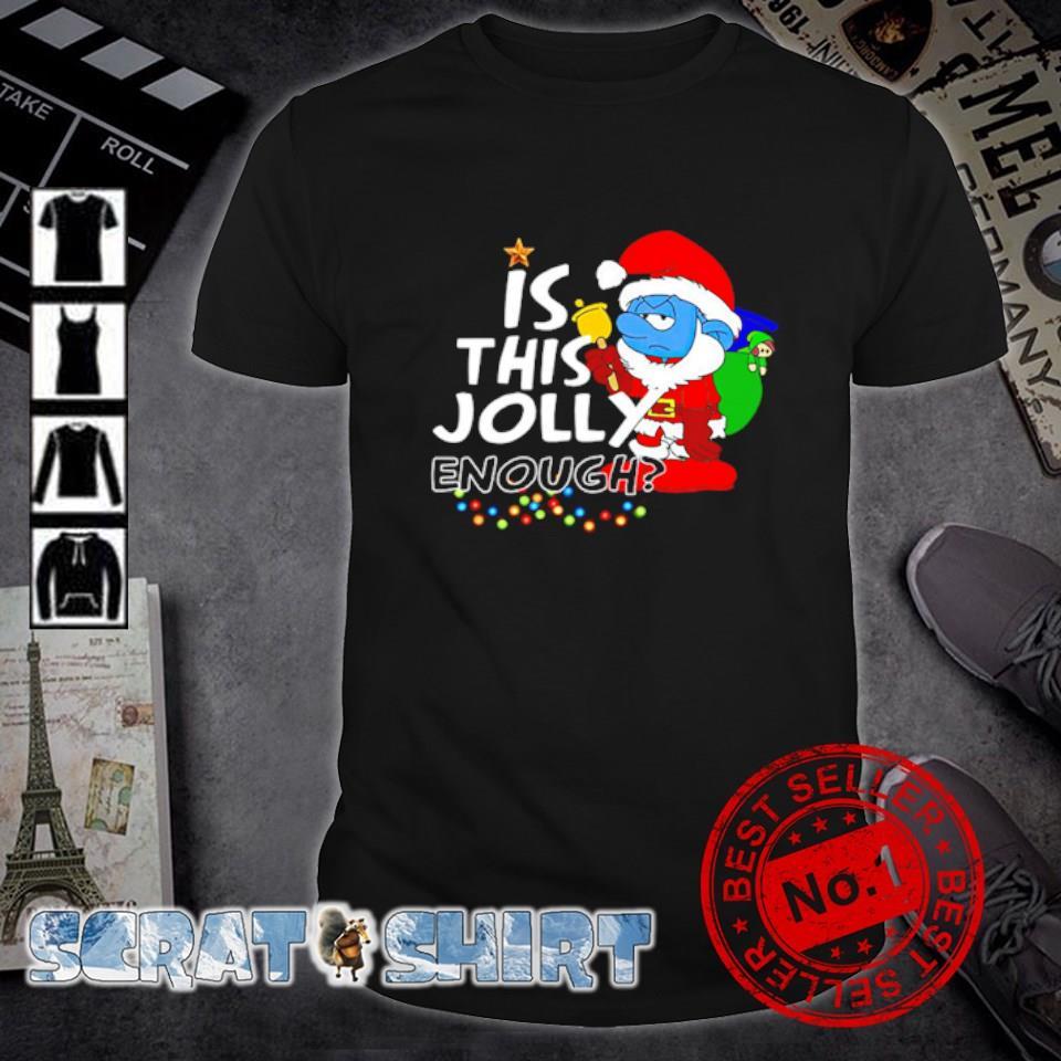 Santa Smurfs is this jolly enough Christmas shirt