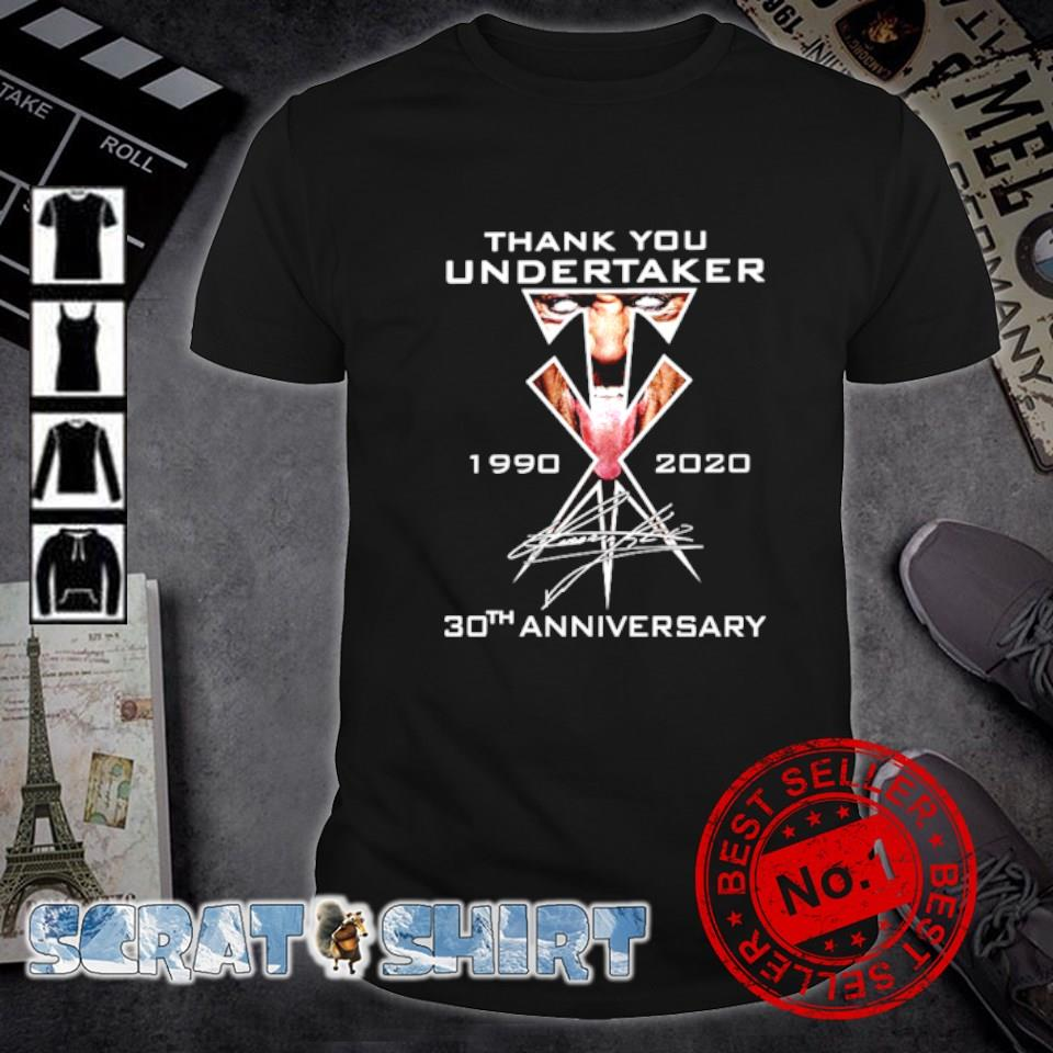 Thank you Undertaker 1990 2020 30th Anniversary signature shirt