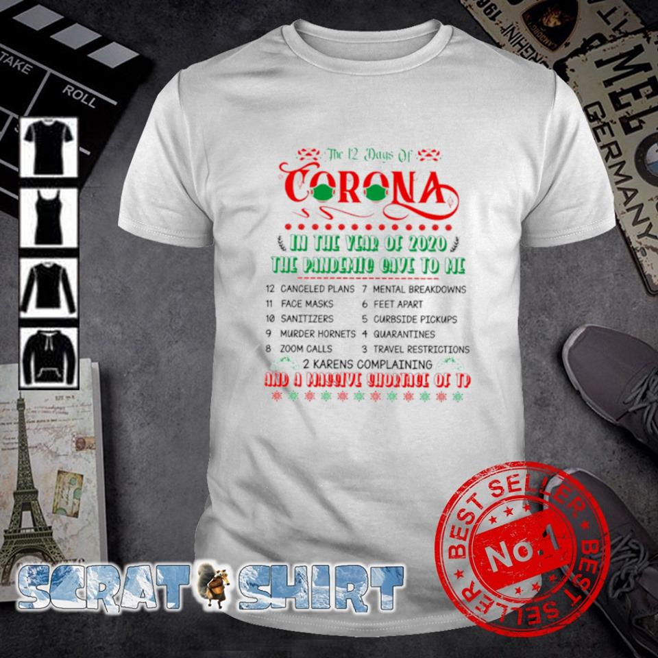 The 12 days of Corona and a massive shortage of Tp Christmas shirt