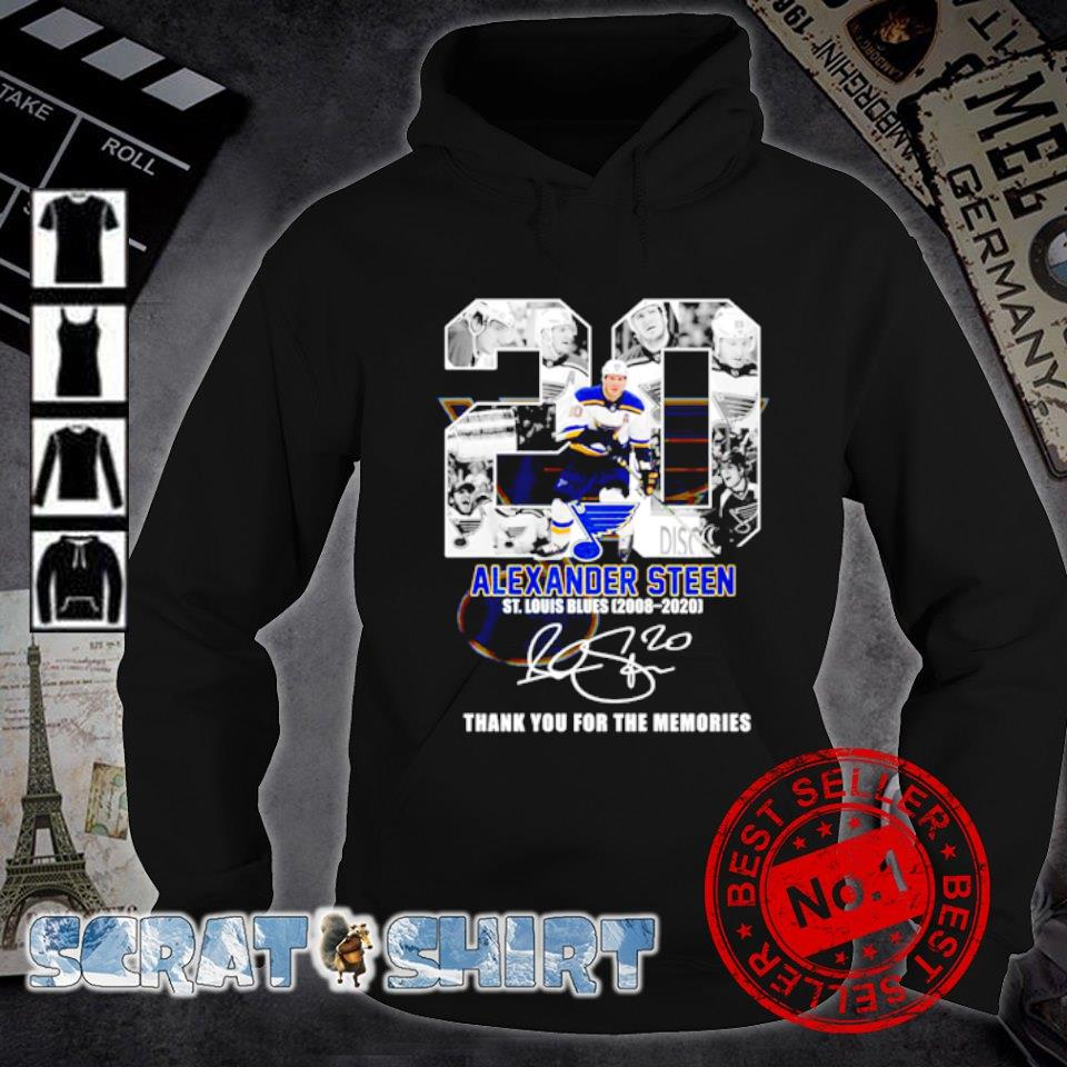 20 Alexander Steen St Louis Blues 2008 2020 thank you for the memories s hoodie