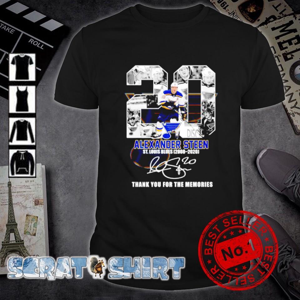 20 Alexander Steen St Louis Blues 2008 2020 thank you for the memories shirt