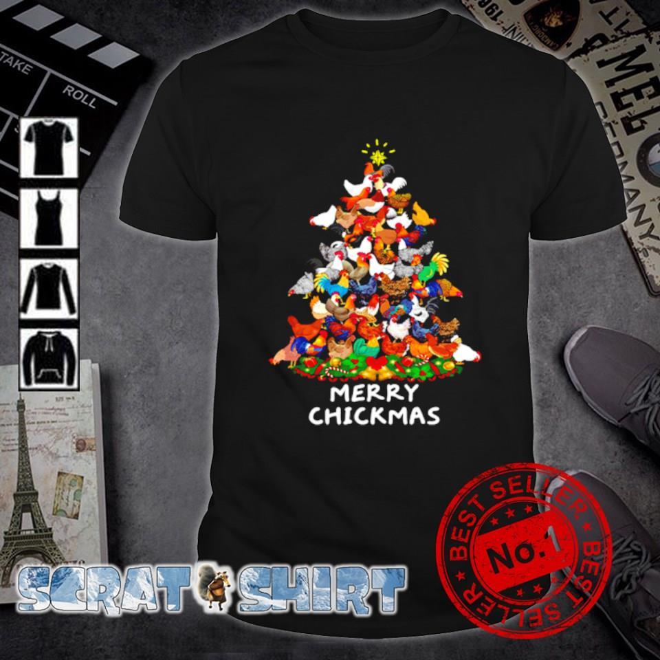Chicken as Christmas tree merry Chickmas shirt