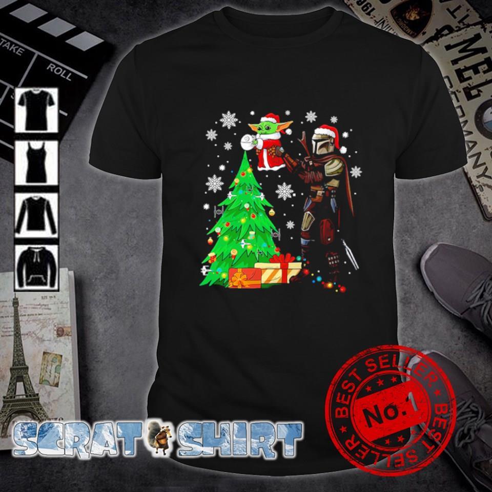 Darth Vader cradling Baby Yoda as The Lion King Christmas shirt
