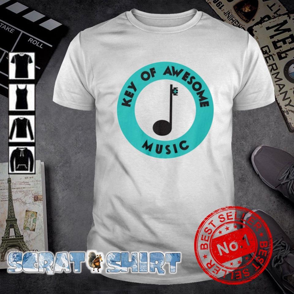 Key of awesome music shirt
