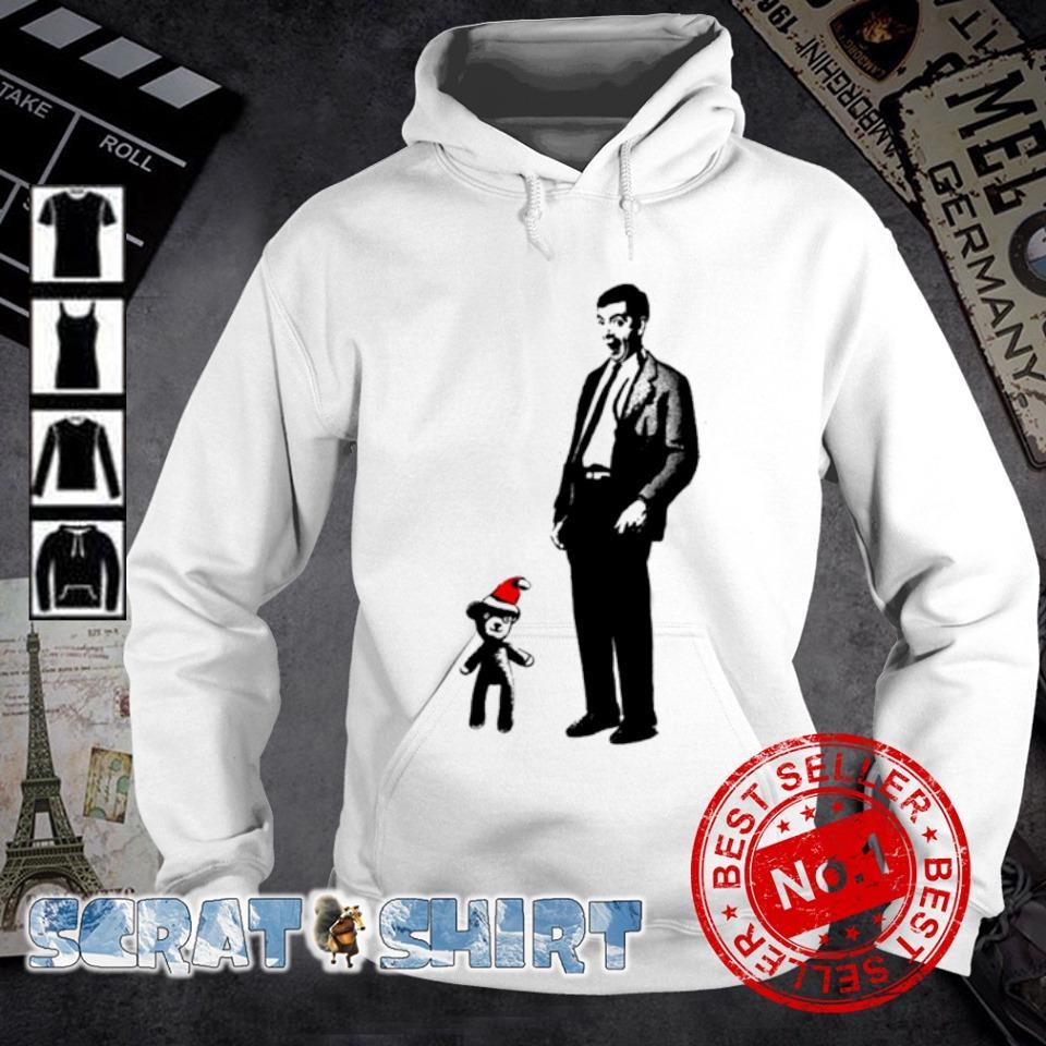 Mr Bean and Santa Teddy merry Christmas s hoodie