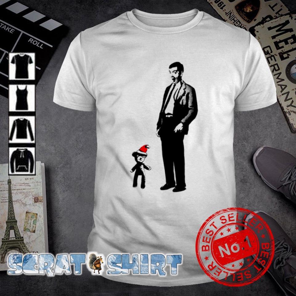 Mr Bean and Santa Teddy merry Christmas shirt