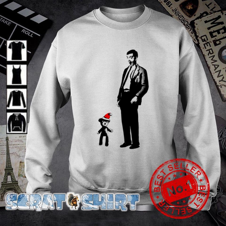 Mr Bean and Santa Teddy merry Christmas s sweater