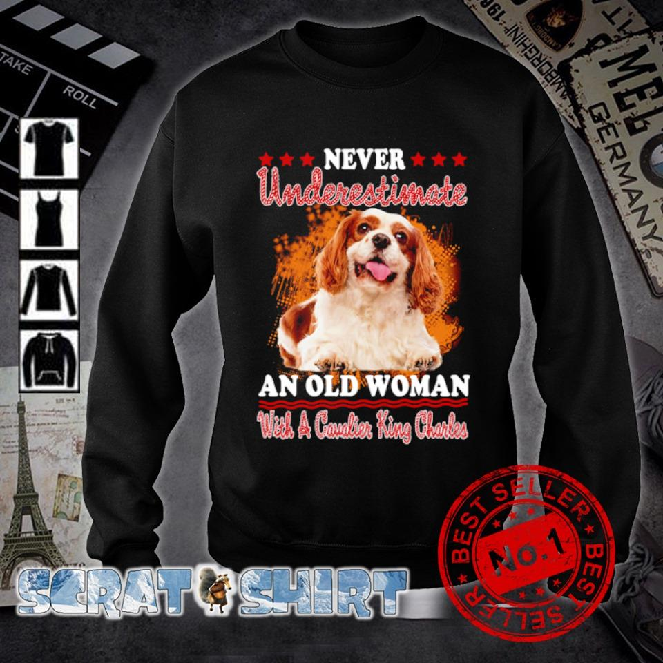 Never underestimate an old woman with a Cavalier King Charles s sweater