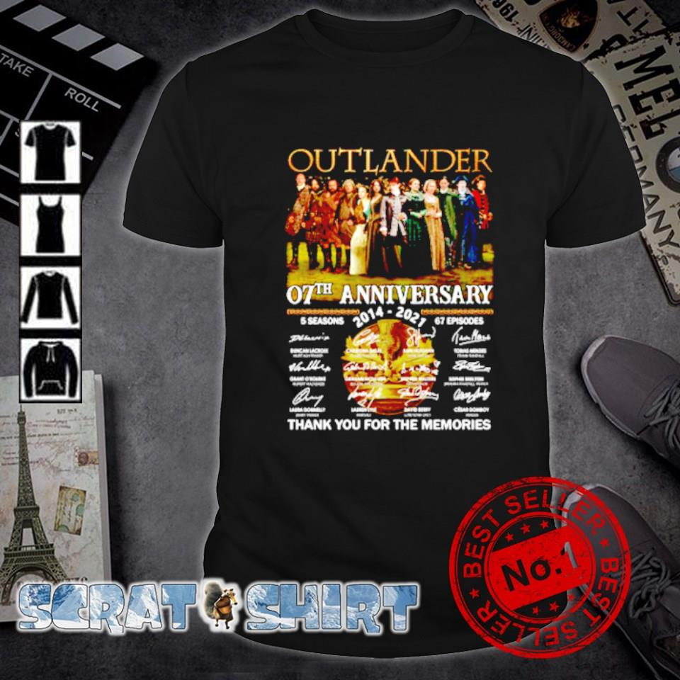 Outlander 07th Anniversary 2014 2021 thank you for the memories shirt