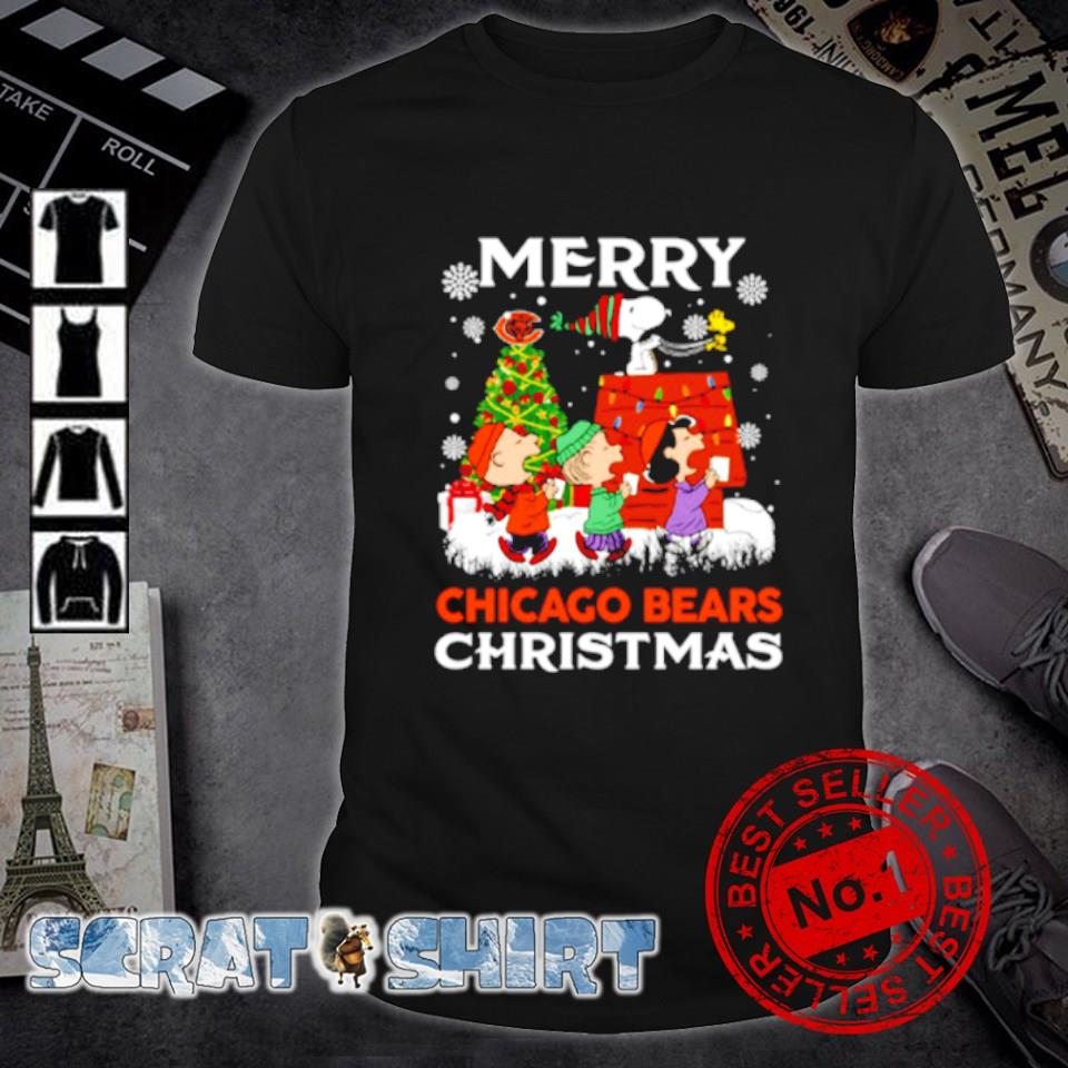 Peanuts characters merry Chicago Bears Christmas shirt