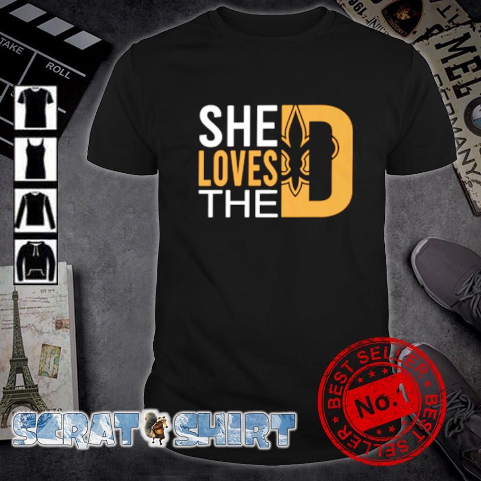 She loves the New Orleans Saints shirt