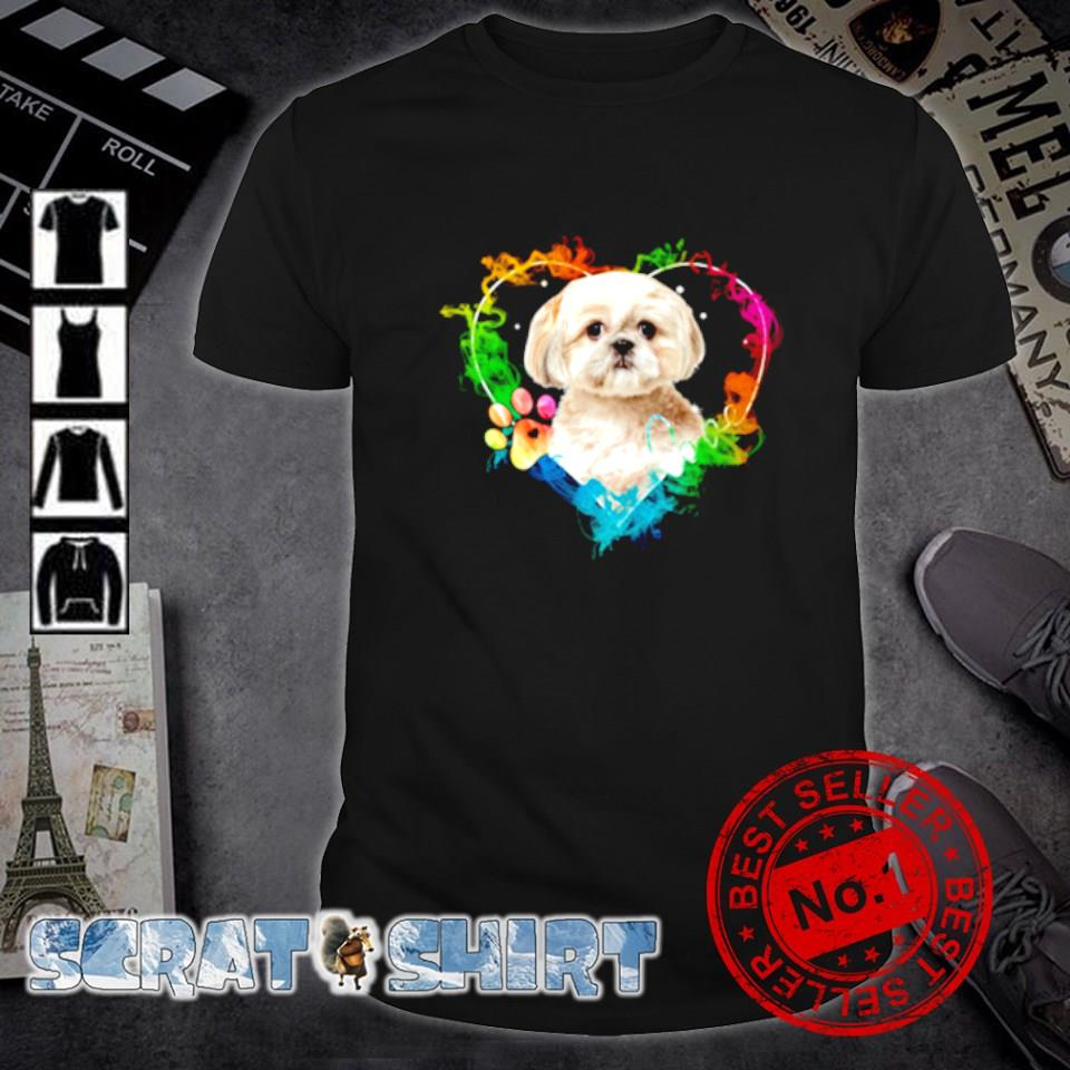 Shih Tzu heart color shirt