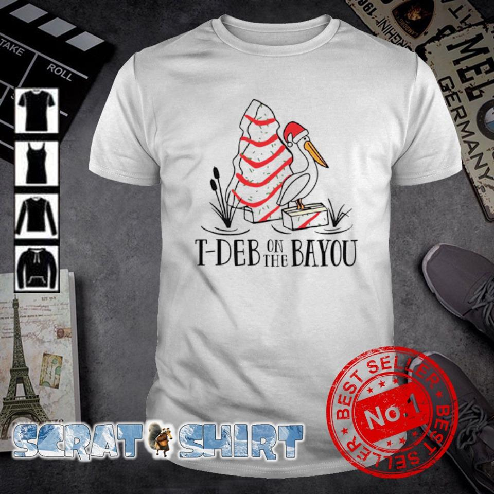 Stork Cake T-deb on the bayou shirt