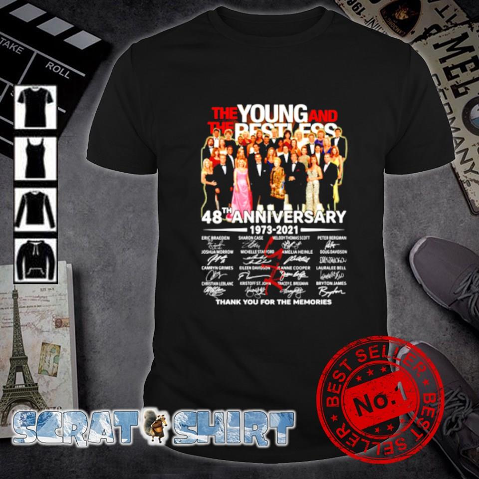 The Young and The Besties 48th Anniversary thank you for the memories shirt
