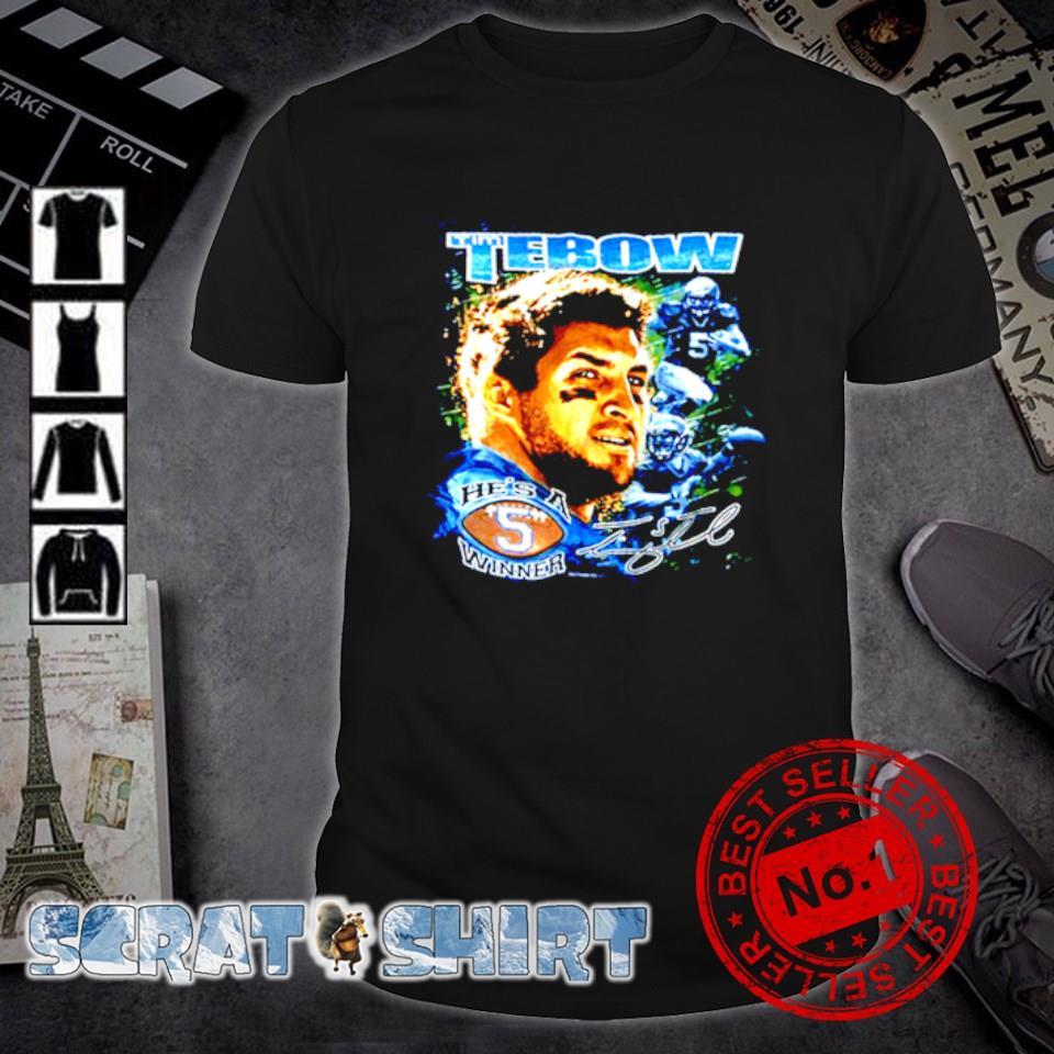 Tim Tebow he's a winner signature shirt