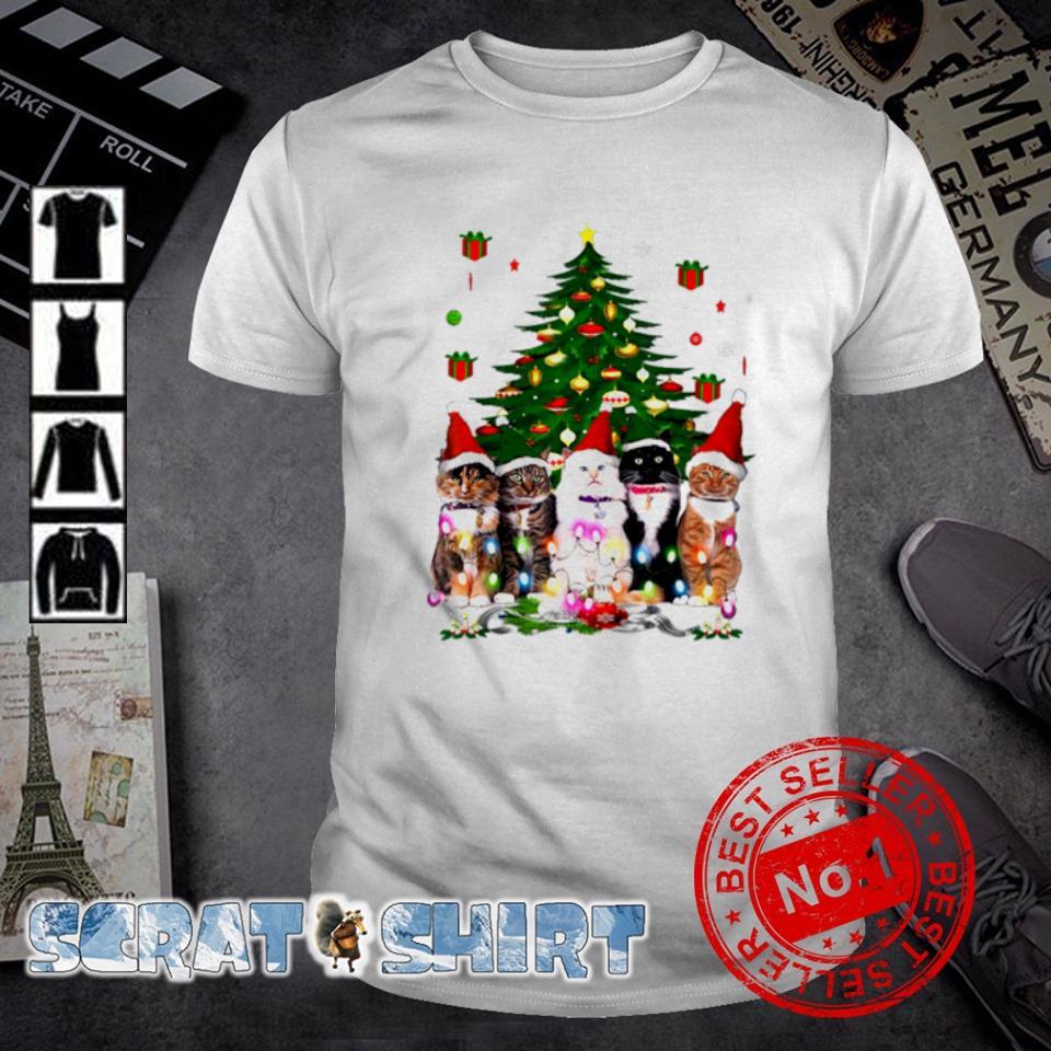 Tuxedo cats Christmas tree shirt