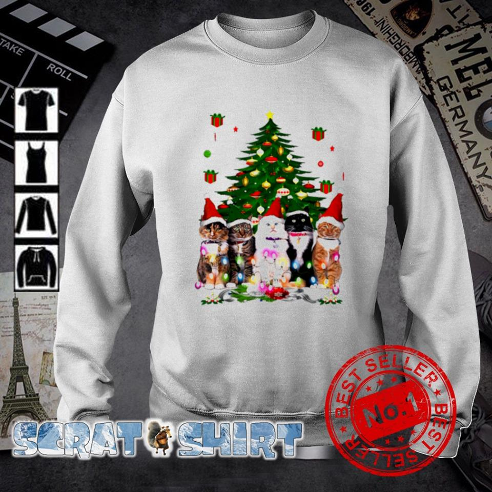 Tuxedo cats Christmas tree s sweater