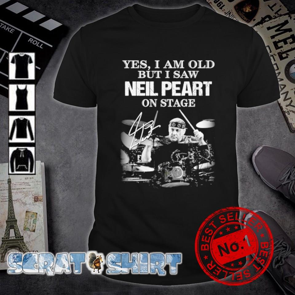 Yes I am old but I saw Neil Peart on stage signature shirt