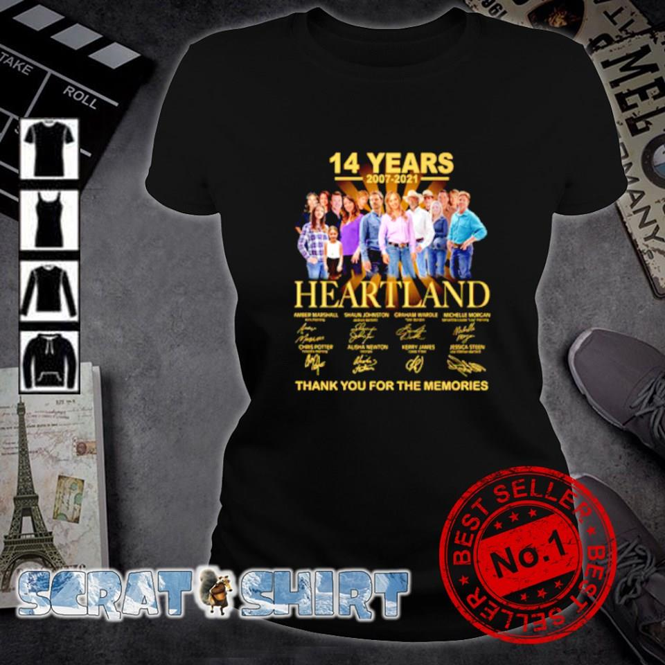 14 years 2007 2021 Heartland thank you for the memories s ladies-tee