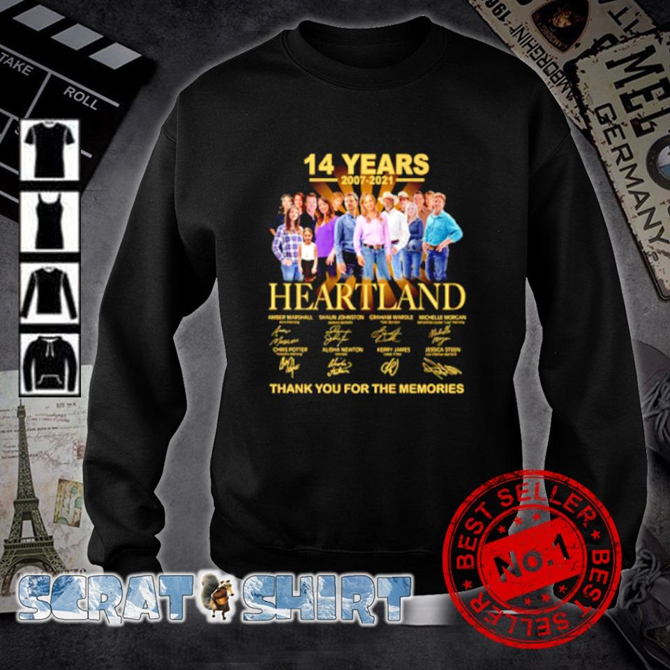 14 years 2007 2021 Heartland thank you for the memories s sweater