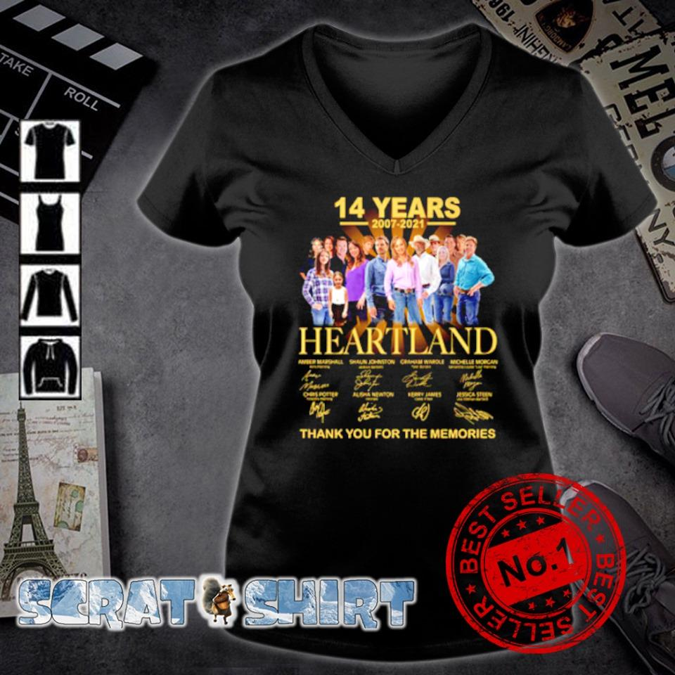 14 years 2007 2021 Heartland thank you for the memories s v-neck t-shirt