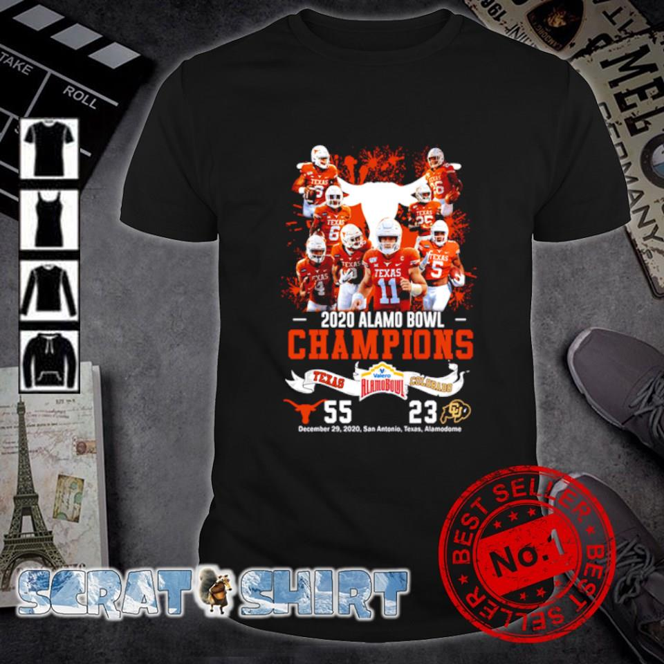 2020 Valero Alamo Bowl Champions Texas Longhorns vs Colorado Buffaloes shirt