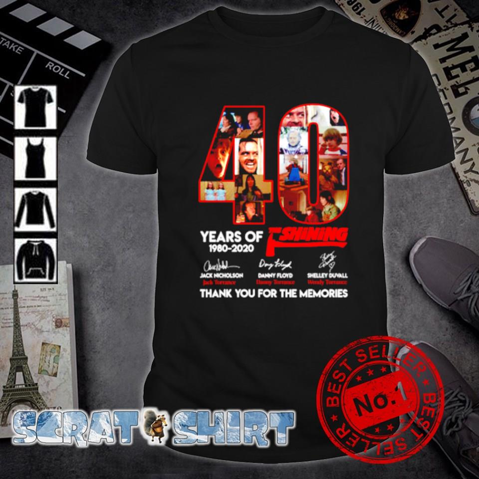 40 years of The Shining thank you for the memories shirt