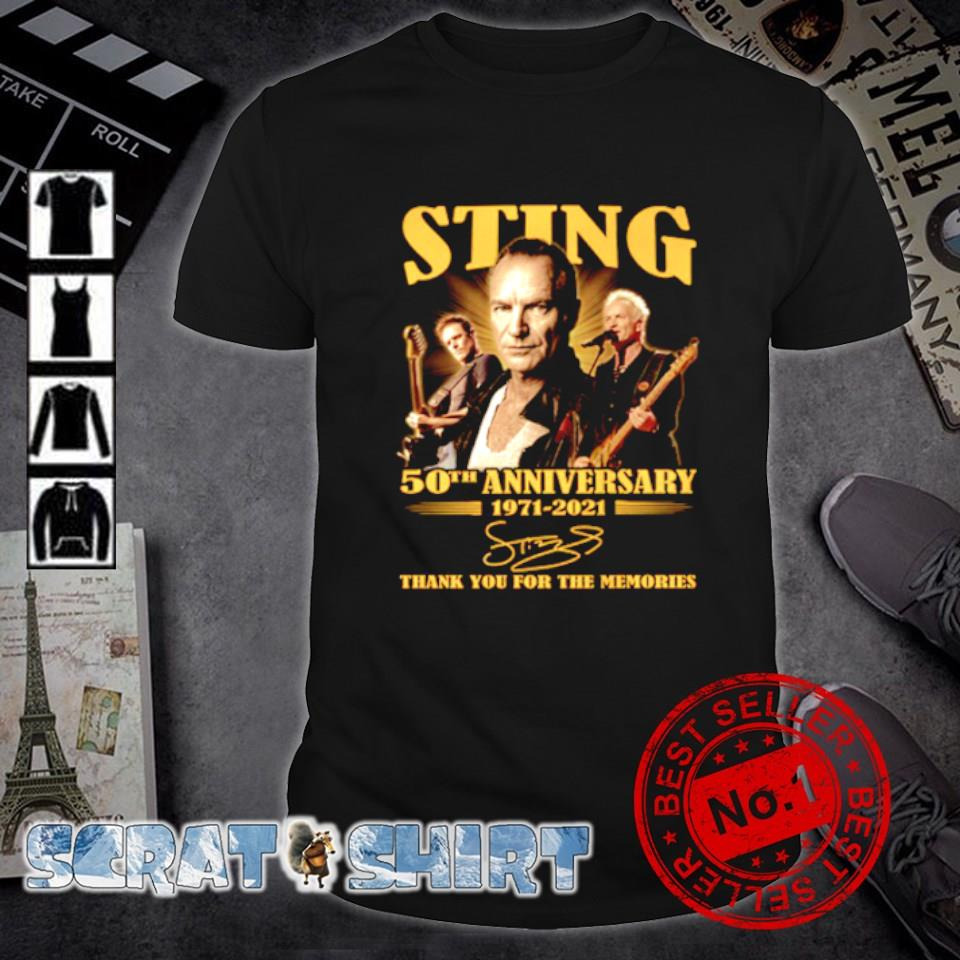 50th Anniversary of Sting 1971 2021 thank you for the memories shirt