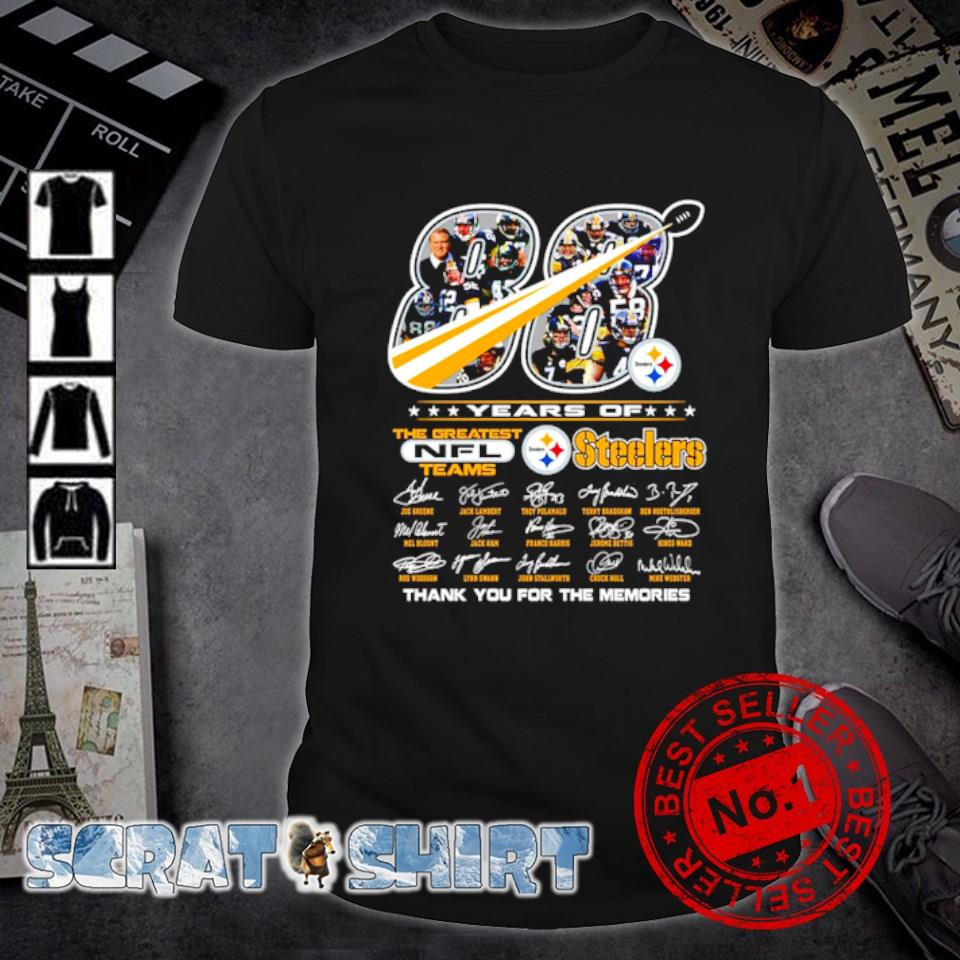 88 years of Steelers the greatest NFL teams thank you for the memories shirt